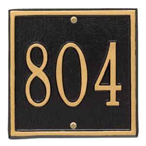 Whitehall Petite Square Plaque Black Gold