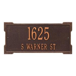 Whitehall Roanoke Address Plaque Antique Copper