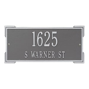 Whitehall Roanoke Address Plaque Pewter Silver