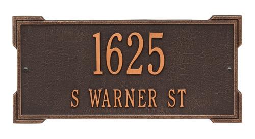 Whitehall Roanoke Address Plaque