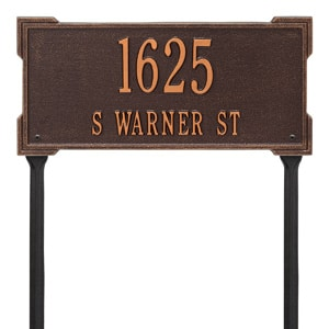 Whitehall Roanoke Lawn Marker Antique Copper