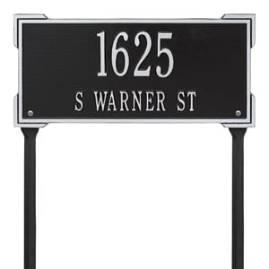 Whitehall Roanoke Lawn Marker Black Silver