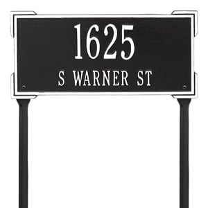 Whitehall Roanoke Lawn Marker Black White