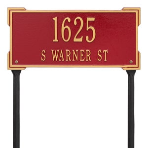 Whitehall Roanoke Lawn Marker Red Gold