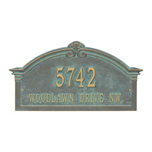 Whitehall Roselyn Arch Plaque Bronze Verdigris
