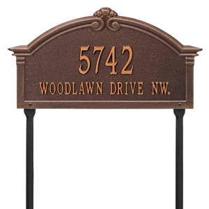 Whitehall Roselyn Lawn Marker Antique Copper