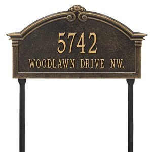 Whitehall Roselyn Lawn Marker Black Gold