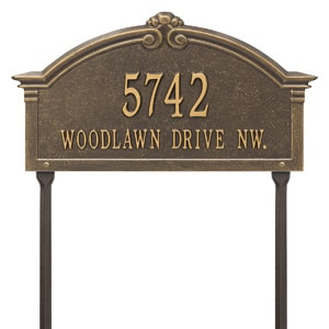 Whitehall Roselyn Lawn Marker Bronze Gold
