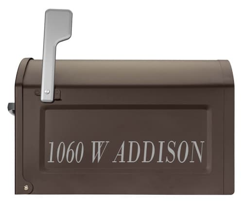 Centennial Post Mount Mailbox Lettering