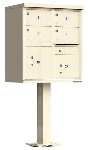 Florence 4 Door CBU Cluster Mailbox