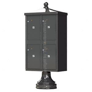 4 Door Parcel Locker Traditional Bronze