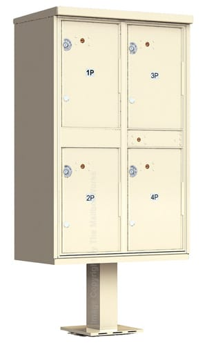 Florence 4 Door Outdoor Parcel Locker