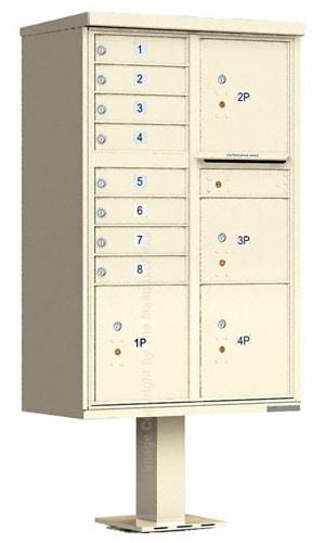 8 Door 4 Parcel CBU Mailbox