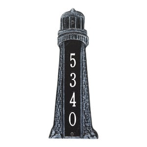 Whitehall Lighthouse Vertical Plaque Black White