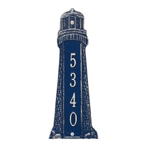 Whitehall Lighthouse Vertical Plaque Blue White