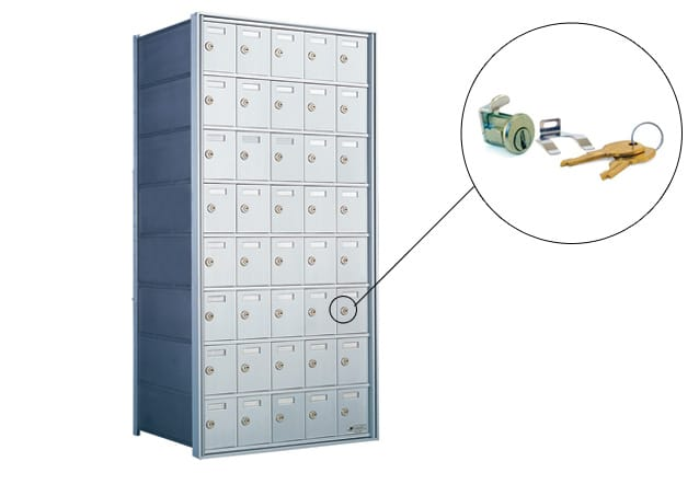 Florence 1700 Series Horizontal Mailbox Replacement Tenant Door Lock Part Example