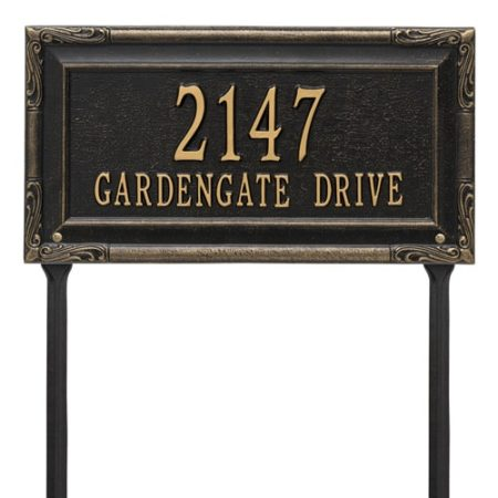 Whitehall Gardengate Lawn Marker Address Plaque