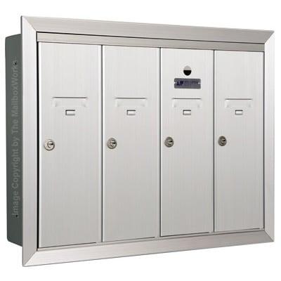 4 Door Vertical Mailboxes