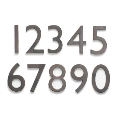 Laguna 5 Inch House Numbers from Architectural Mailboxes