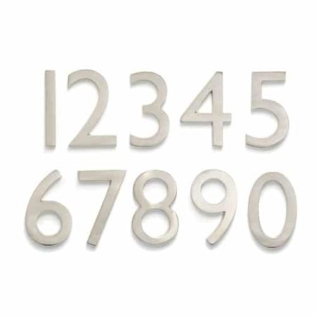 Laguna Nickel 4 Inch House Numbers