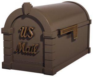 Gaines Signature Keystone Post Mount Mailbox