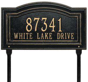 Lawn Marker Address Plaques