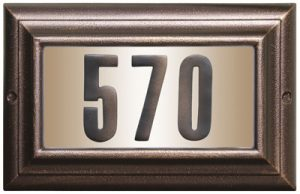 QualArc Edgewood Large Lighted Address Plaque