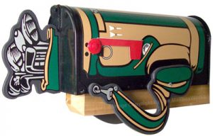 Golf Bag Novelty Mailbox