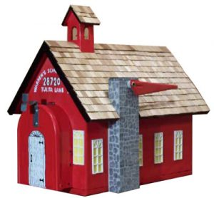 Pinehill Woodcraft School House Novelty Mailbox