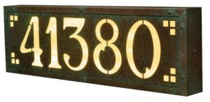 America's Finest Pasadena Lighted Address Plaque