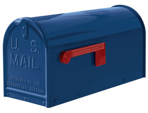 Janzer Blue Post Mount Mailbox