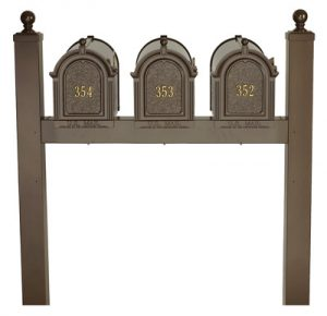 Whitehall Mailboxes Triple Post