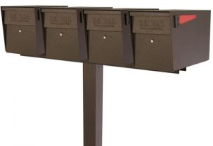 Mailboss Mailbox Quad Mount Post