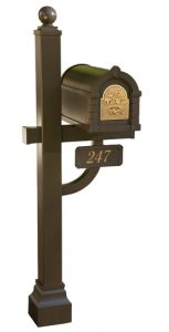 Gaines Keystone Eagle Mailbox Deluxe Post