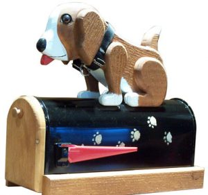 Woodendipity Postal Pooch Novelty Mailbox