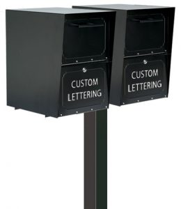 Oasis Mailbox With Dual Standard Post