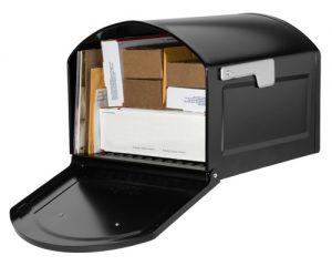 Centennial Post Mount Mailbox Filled View