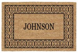 Charleston Personalized Name Door Mat